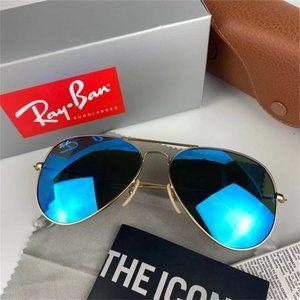 Ray·Ban Aviator Blue Flash Sunglasses*5